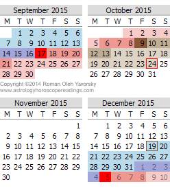 Mercury Retrograde Calendar Copyright © 2012, 2014 by Roman Oleh Yaworsky