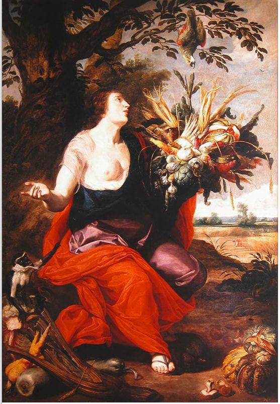 The Goddess Ceres and the Symbols of Fertility by Abraham Janssens - Public Domain