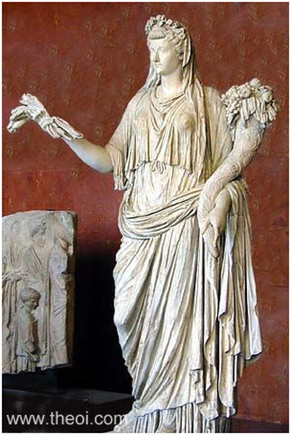 Demeter-Ceres, Greco-Roman marble statue, State Hermitage Museum