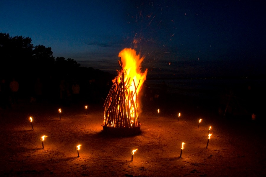 Osterfeuer TK on the beach of Binz, Rügen island, Germany by Tom Küpper
